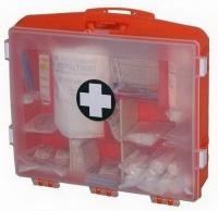 Plastový kufr první pomoci s průhledným víkem BASIC EU